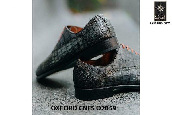 Giày tây nam da bò vân cá sấu Oxford CNES O2059 004