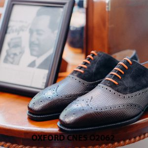 Giày da nam Full brogues Oxford CNES O2062 001