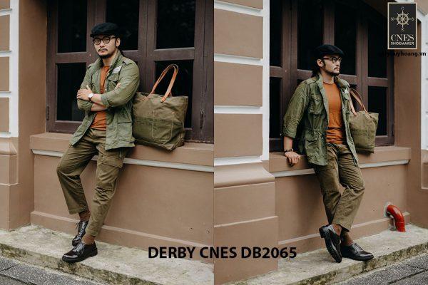Giày tây nam da bê ý Derby CNES DB2065 005