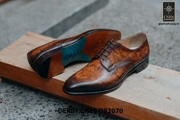 Giày da nam đánh Patina Derby CNES DB2070 003