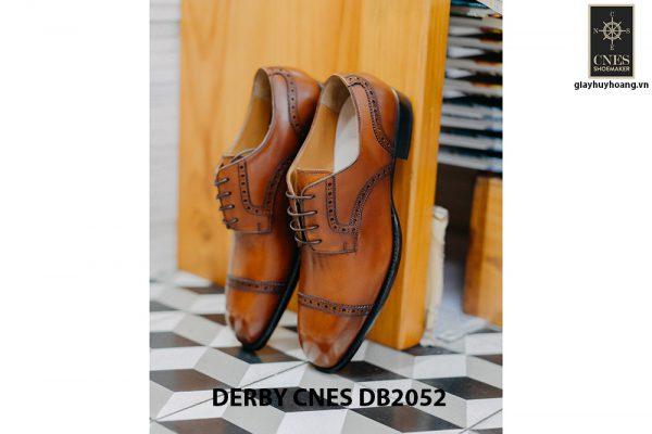 Giày da nam mũi vuông Captoe Derby CNES DB2052 005
