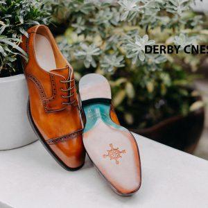 Giày da nam mũi vuông Captoe Derby CNES DB2052 003