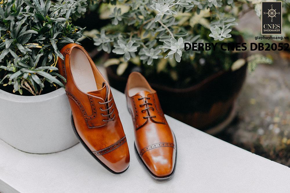 Giày da nam mũi vuông Captoe Derby CNES DB2052 001