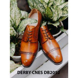 Giày da nam mũi vuông Captoe Derby CNES DB2052 002