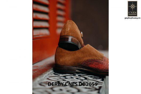Giày tây nam da đan Derby CNES DB2059 005
