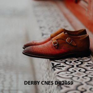Giày tây nam da đan Derby CNES DB2059 003