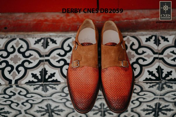 Giày tây nam da đan Derby CNES DB2059 001