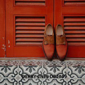 Giày tây nam da đan Derby CNES DB2059 002