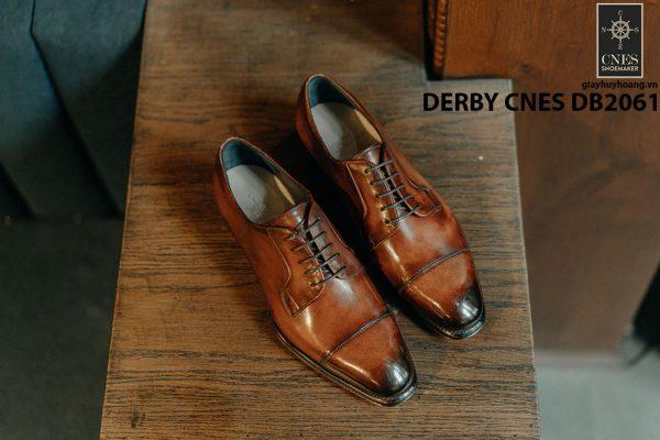 Giày tây Derby nam đánh patina CNES DB2061 001