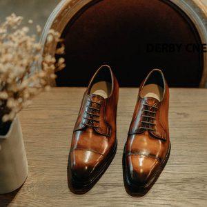 Giày tây Derby nam đánh patina CNES DB2061 004