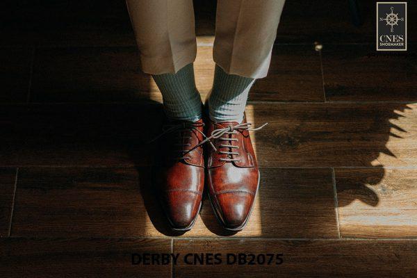 Giày tây nam mũi vuông Derby CNES DB2075 001