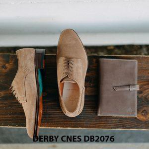 Giày da nam da lộn không nhăn Derby CNES DB2076 006