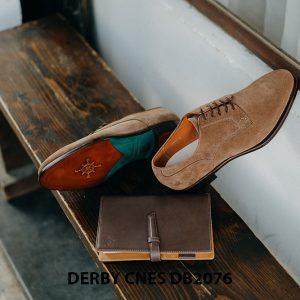 Giày da nam da lộn không nhăn Derby CNES DB2076 005