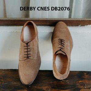 Giày da nam da lộn không nhăn Derby CNES DB2076 001