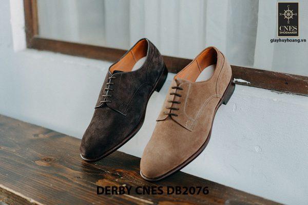 Giày da nam da lộn không nhăn Derby CNES DB2076 004