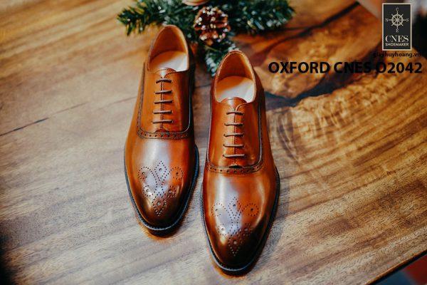 Giày tây nam chính hãng brogues Oxford CNES O2042 004