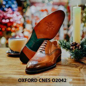 Giày tây nam chính hãng brogues Oxford CNES O2042 003
