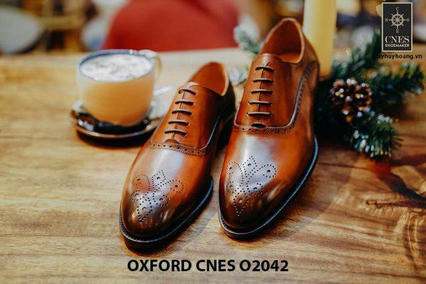 Giày tây nam chính hãng brogues Oxford CNES O2042 001