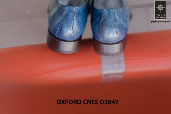 Giày tây nam da trơn đánh Patina Oxford CNES O2047 006