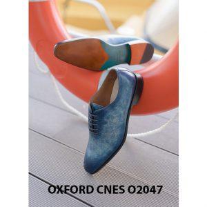 Giày tây nam da trơn đánh Patina Oxford CNES O2047 004