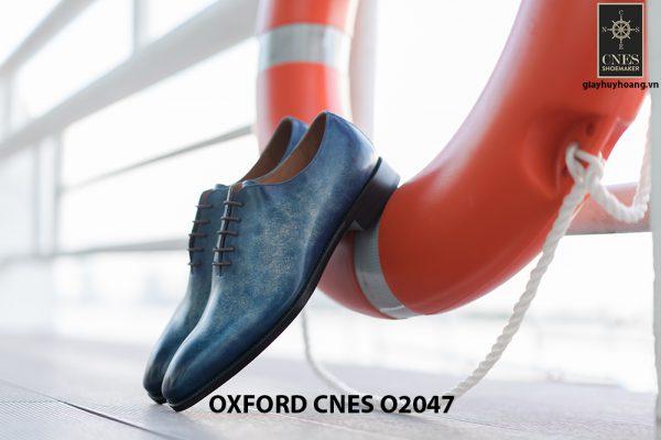 Giày tây nam da trơn đánh Patina Oxford CNES O2047 001