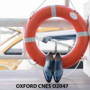 Giày tây nam da trơn đánh Patina Oxford CNES O2047 003