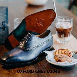 Giày da nam màu xanh đại dương Oxford CNES O2048 004