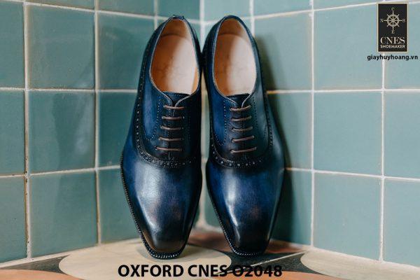 Giày da nam màu xanh đại dương Oxford CNES O2048 003