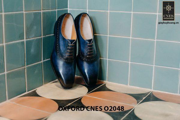 Giày da nam màu xanh đại dương Oxford CNES O2048 001