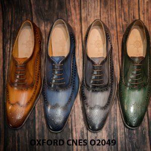Giày tây nam hoạ tiết Wingtip Oxford CNES O2049 001