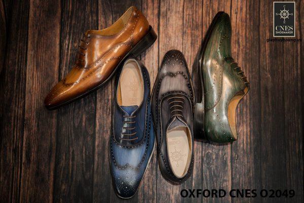 Giày tây nam hoạ tiết Wingtip Oxford CNES O2049 013