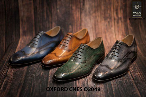 Giày tây nam hoạ tiết Wingtip Oxford CNES O2049 012