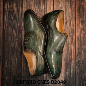 Giày tây nam hoạ tiết Wingtip Oxford CNES O2049 0011