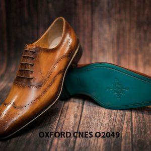 Giày tây nam hoạ tiết Wingtip Oxford CNES O2049 009