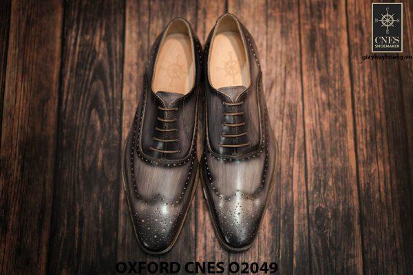 Giày tây nam hoạ tiết Wingtip Oxford CNES O2049 007