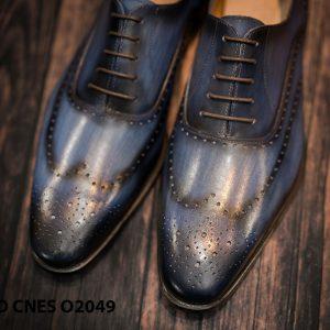 Giày tây nam hoạ tiết Wingtip Oxford CNES O2049 004