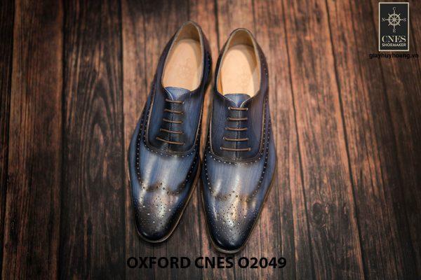 Giày tây nam hoạ tiết Wingtip Oxford CNES O2049 003