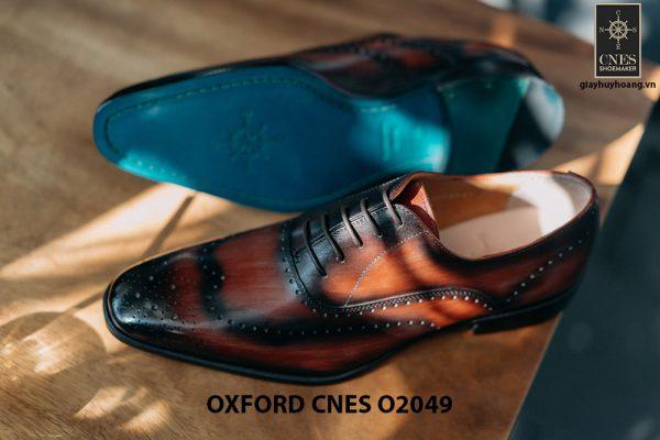 Giày tây nam hoạ tiết Wingtip Oxford CNES O2049 002