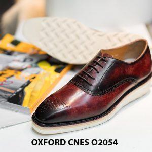 Giày da nam sắc màu núi lửa Oxford CNES O2054 001