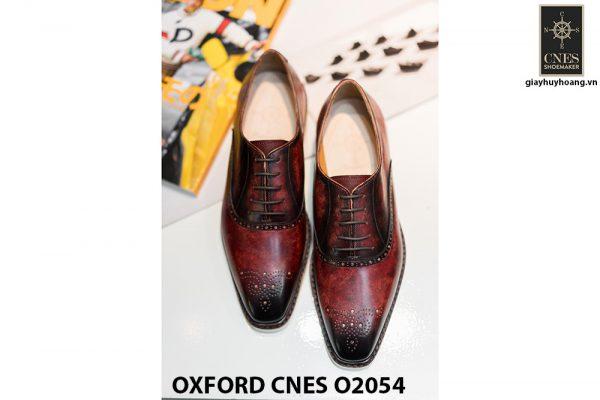 Giày da nam sắc màu núi lửa Oxford CNES O2054 002