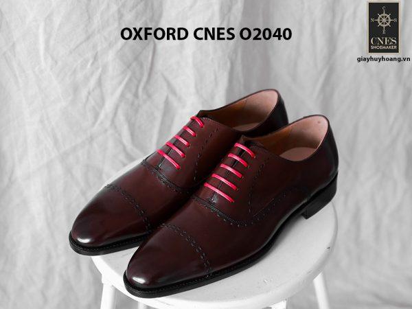 Giày tây nam nâu sẫm Oxford CNES O2040 001