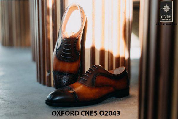 Giày oxford nam thon gọn CNES O2043 002