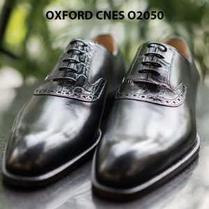 Giày da nam mũi trơn Oxford CNES O2050 001
