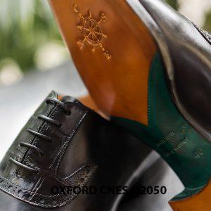 Giày da nam mũi trơn Oxford CNES O2050 003