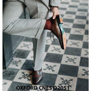 Giày da nam độc đáo Oxford CNES O2051 004