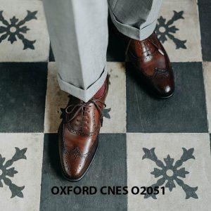 Giày da nam độc đáo Oxford CNES O2051 003