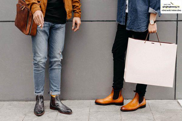 Nên chọn chất liệu da bê nào cho giày tây nam vừa đẹp+bền