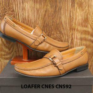 Giày lười nam da hột cao cấp Loafer Cnes CNS92 007