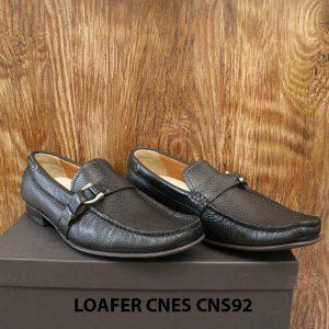 Giày lười nam da hột cao cấp Loafer Cnes CNS92 001