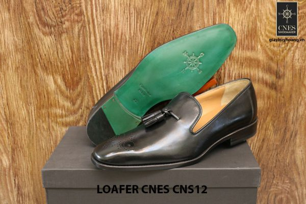 [Outlet Size 42+43] Giày lười nam có chuông Tassel Loafer Cnes CNS12 005